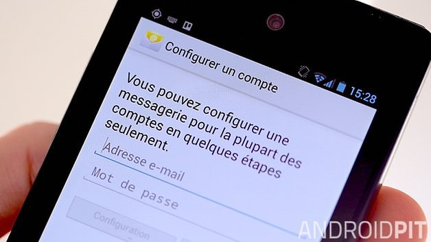 comment configurer mails android