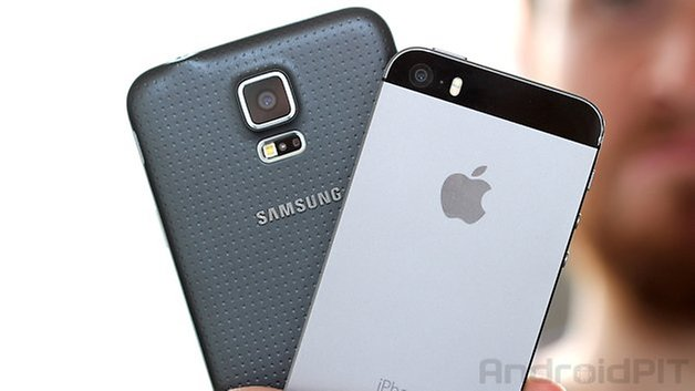 comparaison iphone 5s samsung galaxy s5