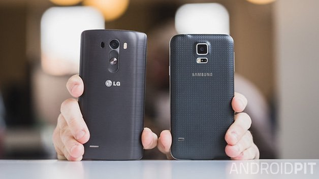 comparatif galaxy s5 lg g3 back
