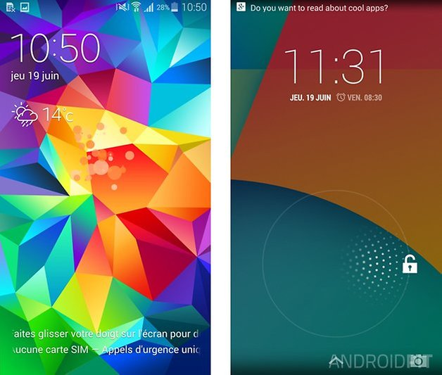 comparatif touchwiz android pur 1