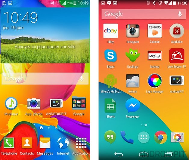 comparatif touchwiz android pur 2
