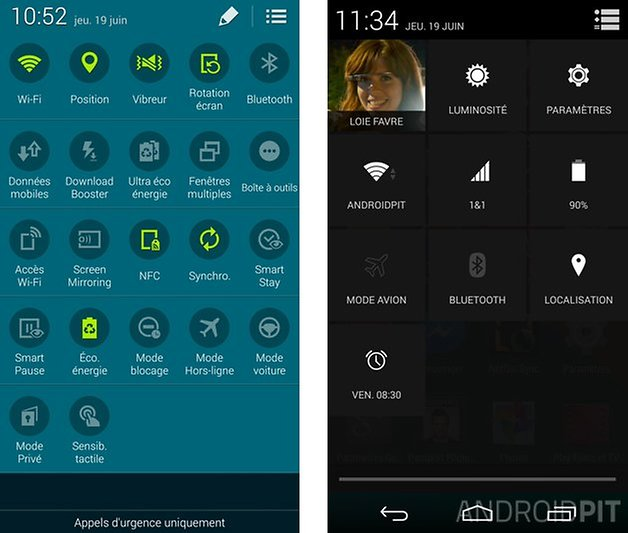 comparatif touchwiz android pur 6