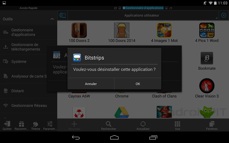 desinstaller applications android 5