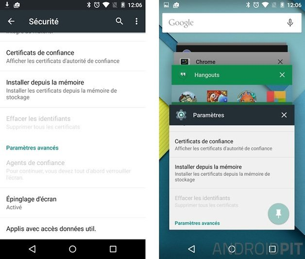 epingler ecran android 5 0 lollipop