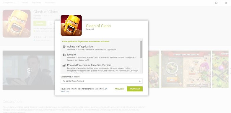 erreurs google play store installer web