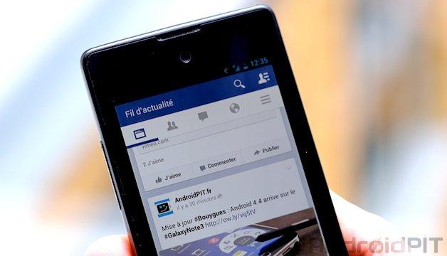 tutoriel t l charger la derni re version de facebook d s maintenant androidpit. Black Bedroom Furniture Sets. Home Design Ideas