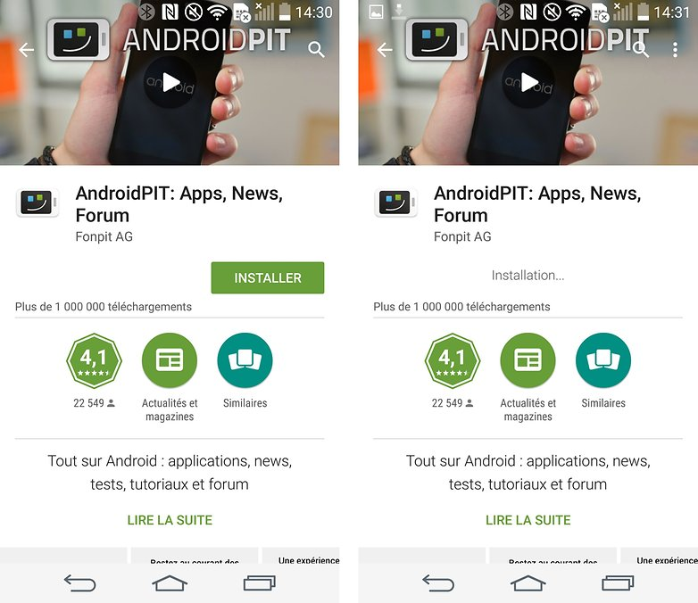 ne peut pas installer les applications Android