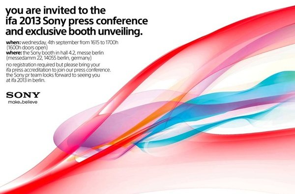 invitation sony ifa 2013