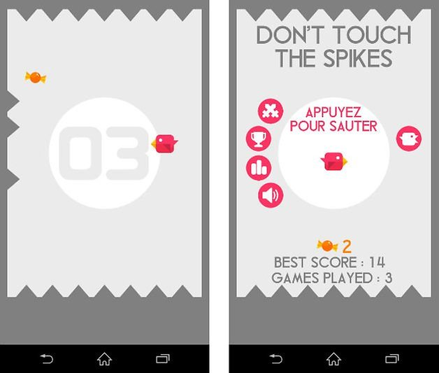 jeu android durs dont touch spikes