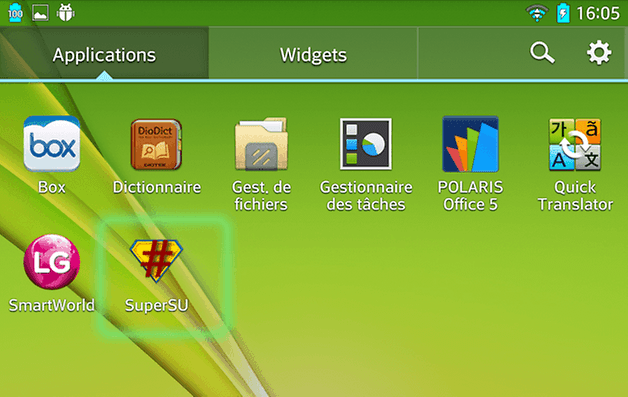 lg g pad root superSU