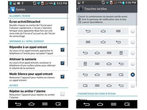 lg g2 touches tactiles gestes