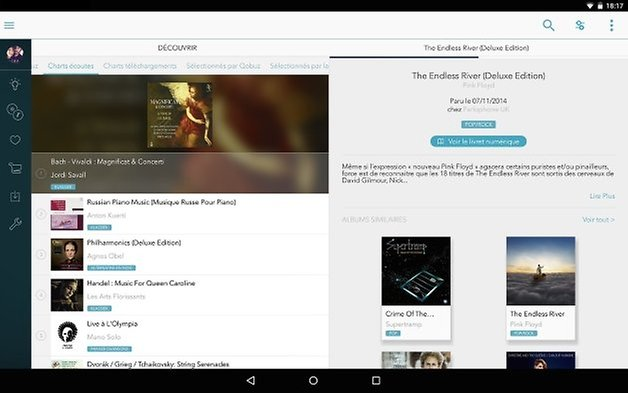 meilleures application streaming audio android qobuz