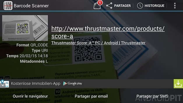 meilleures applications code qr android barcode scanner
