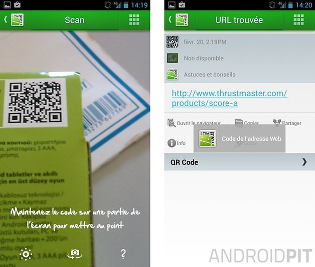 meilleures applications code qr android qr droid code scanner