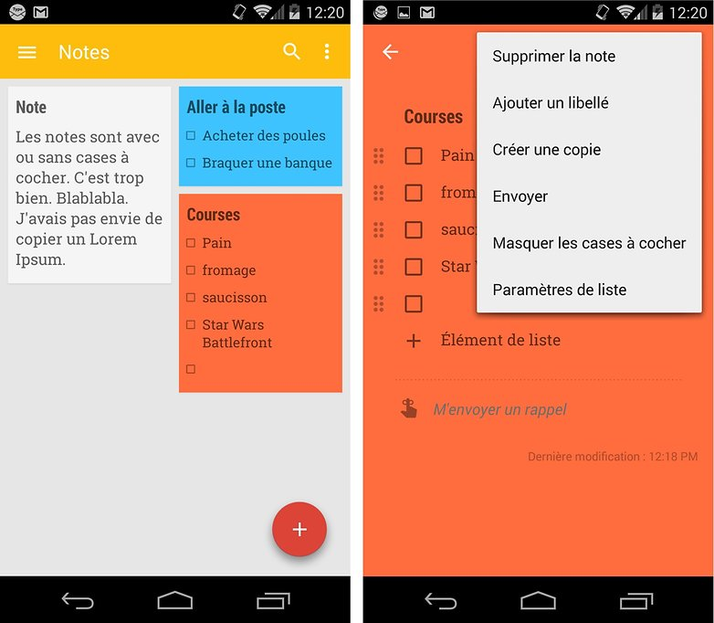 meilleures applications gratuires android google keep 1