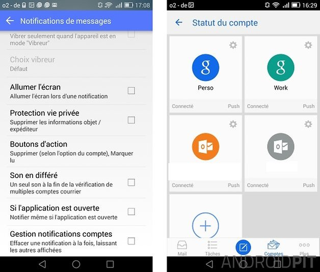 meilleures applications mail android aqua mail