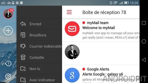 meilleures applications mail android mymail E