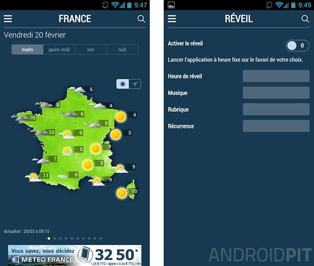 meilleures applications meteo android meteo france