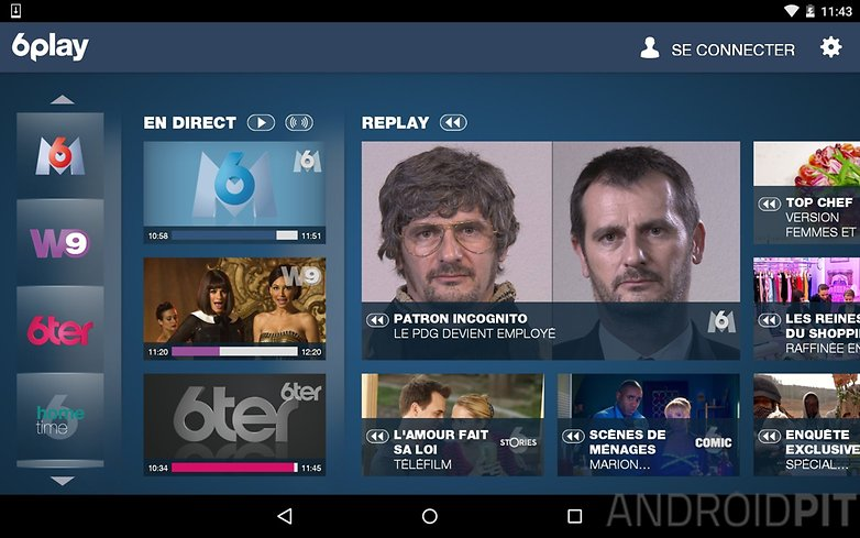 meilleures applications streaming tv 6play