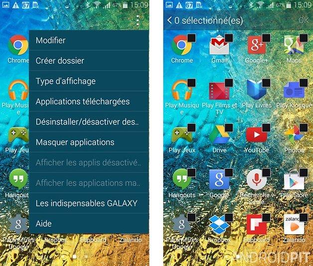 meilleures trucs et astuces samsung galaxy alpha masquer apps