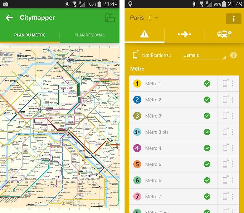 meilleurs applications transport paris city mapper 2