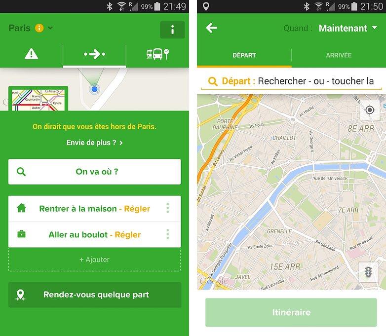 meilleurs applications transport paris city mapper