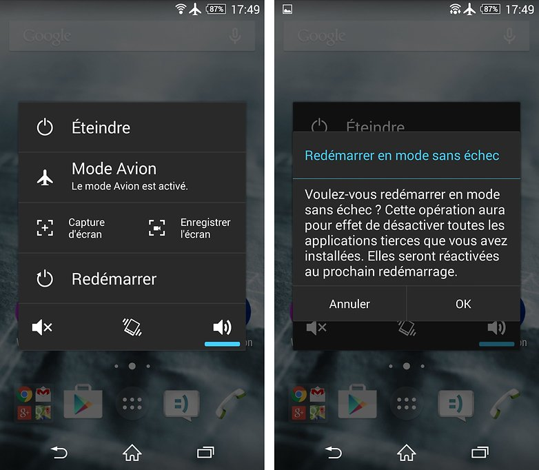 mode sans echec android