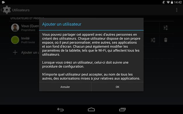 multi utilisateur android utilisateur normal