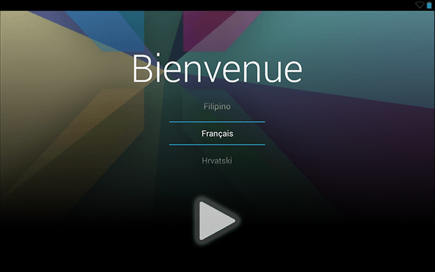 nexus 7 android 4 3 update bienvenue