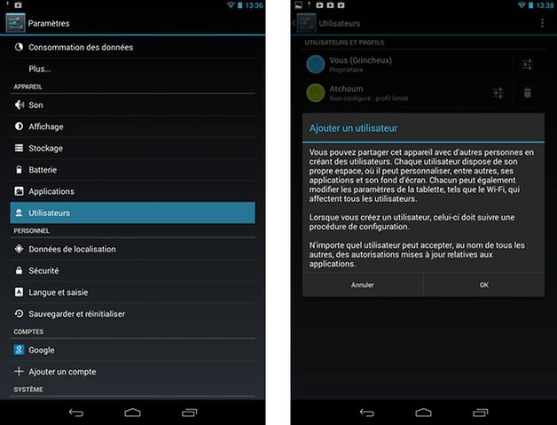 nexus 7 android 4 3 update users