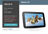 Google Nexus 10 à nouveau disponible sur le Google Play Store