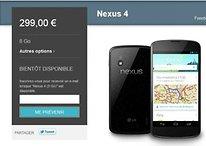 Nexus 4 et Nexus 10 : gros fail pour le lancement sur Google Play
