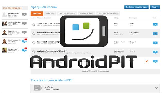 nouveau forum androidpit E