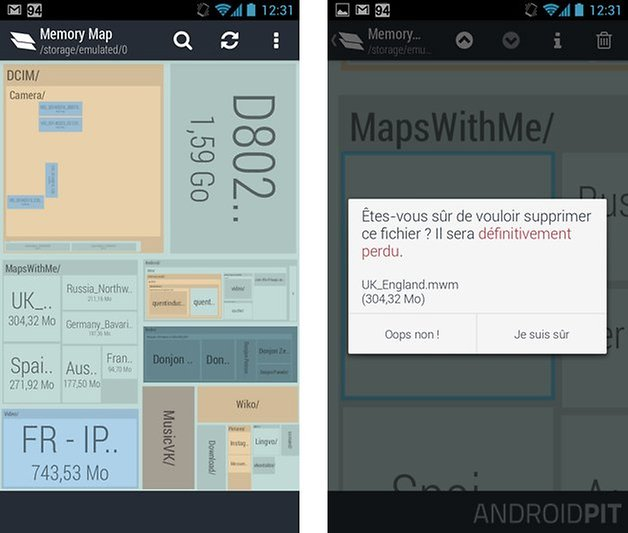 optimiser smartphone android memory map