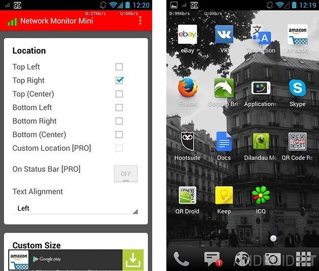 optimiser smartphone android network monitor mini 1