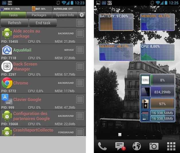 optimiser smartphone android system monitor