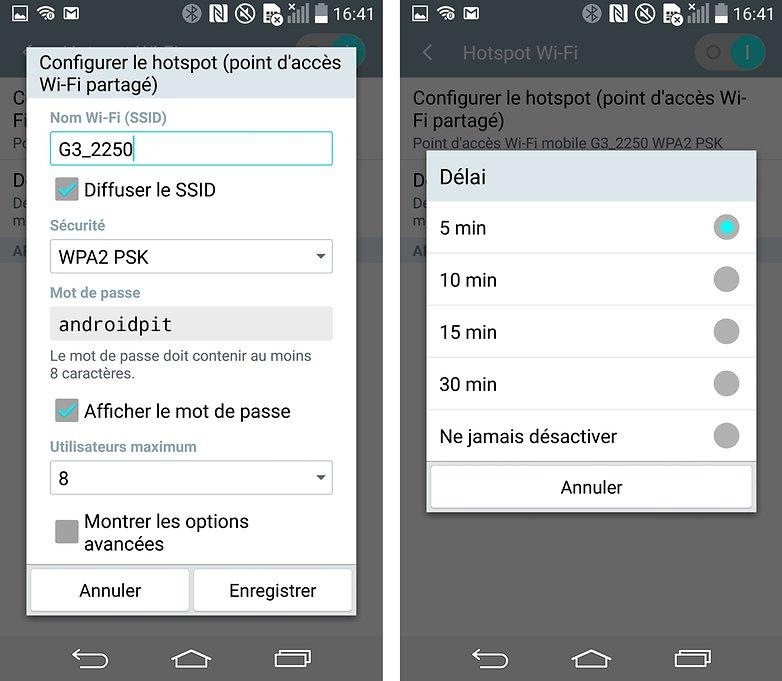 partage connexion android 3
