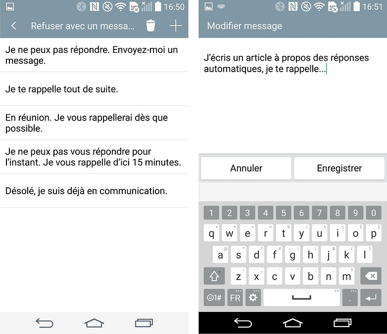 reponses automatiques android 3