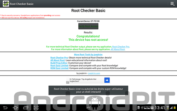 root galaxy tab 2 root checker
