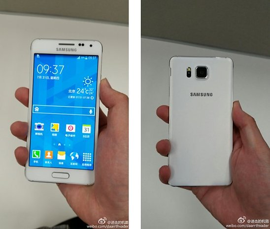 Galaxy F (Alpha) front and back view