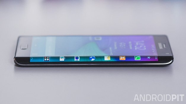 Samsung Galaxy Note screen side edge