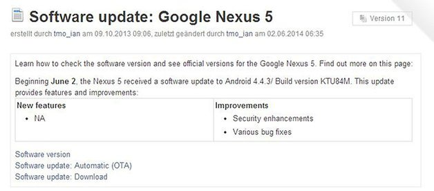 software update nexus 5 android 4 4 3 t mobile