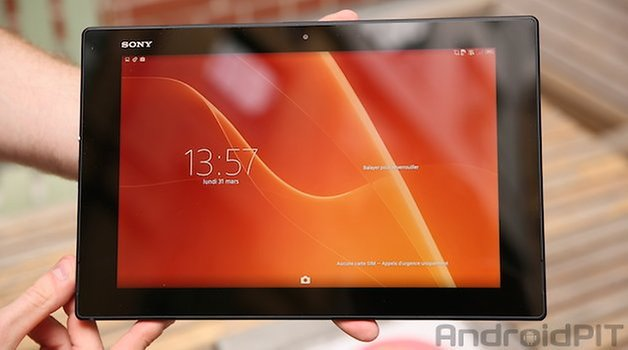 sony xperia z2 tablet front