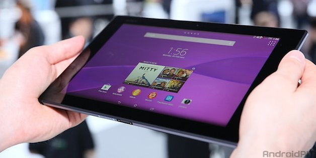 sony xperia z2 tablet angle 2