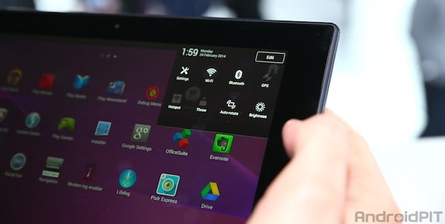 Sony Xperia Z2 Tablet - Prise en main
