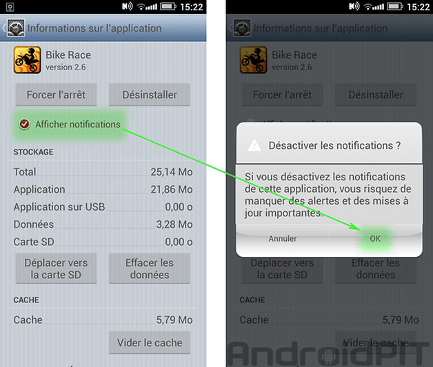 stop notifications android 2