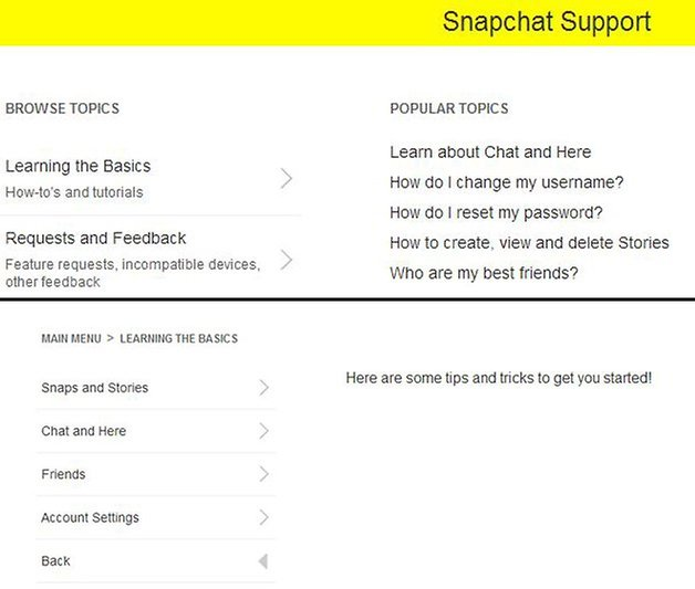 supprimer message snapchat support 01