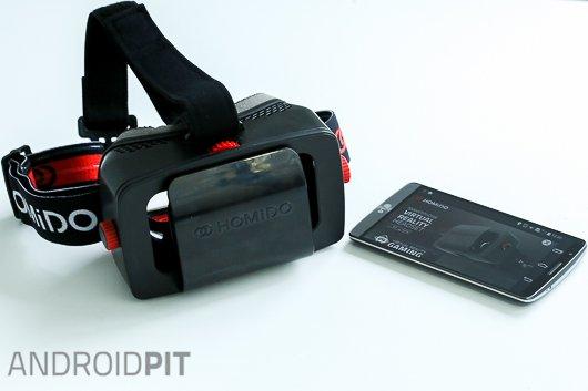 test casque realite virtuelle homido vr 2