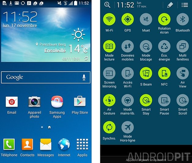 test complet galaxy s4 main