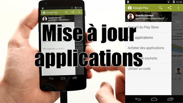 tutoriel mise jour applications et google play store androidpit. Black Bedroom Furniture Sets. Home Design Ideas